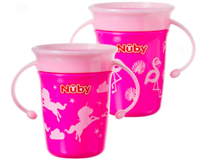 Nuby Sipeez 360 Degree Wonder Mini Cups, Pack of 2, Boys Girls Non Spill Sippy