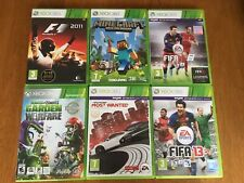 Xbox 360 games bundle Minecraft Fifa Need for Speed Plants vs Zombies F1 2011