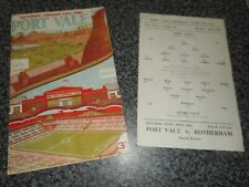 PORT VALE  v  STOKE CITY  1954/5  ~ JAN 15th  POSTPONED + S/S  APR 25    DERBY