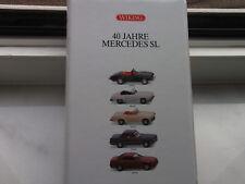 """Wiking Set 99001 """" 40 Jahre Mercedes SL """" 5 Modelle mit OVP/ Werbebox 1:87"""