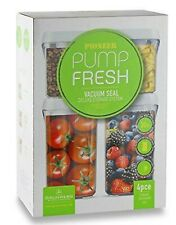 4 x vacuum pump seal keep fresh storage food containers airtight