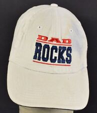 Beige DAD Rocks Fathers Day Gift Cool Embroidered baseball hat cap adjustable