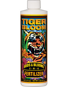 Fox Farm Tiger Bloom Liquid Concentrate Fertilizer, 1Pint, New, Free Shipping