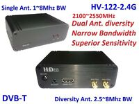 HV-122-2.4G Full HD 2-Way Diversity Digital TV Receiver 2100~2550MHz