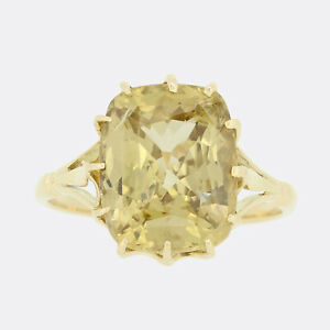 Unheated 9.25 Carat Madagascan Sapphire Solitaire Ring 18ct Yellow Gold