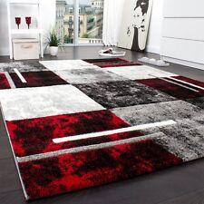 Large Designer Rug Modern Thick Woven Carpet Soft Red Black White 160x230cm