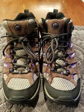 Merrell Womens MOAB trail hiking MID Bracken/Purple Boots Size 6.5 slightly used