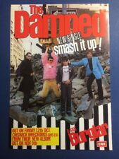 THE DAMNED  Smash It Up  1979 Poster/ Flyer MINT CONDITION