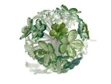 Pier 1 Imports Glass Flower Sphere Ball Green Bowl Filler New
