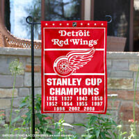 Detroit Red Wings 11 Time Stanley Cup Champions Garden Flag and Yard Banner