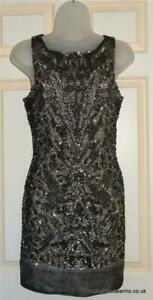 £298 Size 12 All Saints Viper Sequin/Embellished/Beaded Dress BNWT