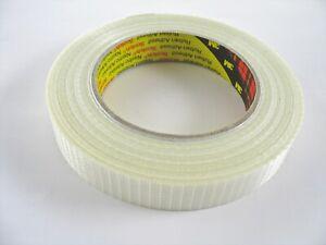 3M 8954 Tartan Filament-Klebeband Gewebe Leistungsstark 19 mm x 50m Transparent
