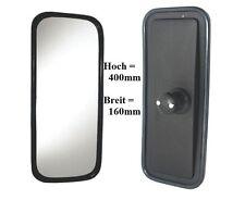 Außenspiegel Großer Spiegel LKW Universal Bagger Trecker 400x160mm ø18 -32mm 24V