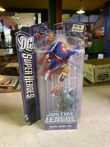 Mattel DC Super Heroes Figure - NIP Justice League Unlimited 3 Pack Set w/Steel