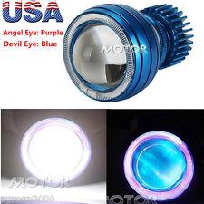 HID Bi-Xenon Motorcycle Projector Lens Kit H1 H4 H7 Purple Angel &Blue Demon Eye