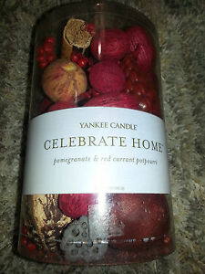 YANKEE CANDLE Dry Potpourri POMEGRANATE AND RED CURRANT 12 oz Bag CELEBRATE HOME