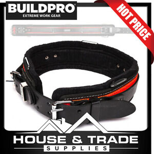 """BuildPro All Rounder Belt 36"""" Leather Heavy Duty Stitching Back Support LBBAR36"""