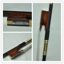 Good 4/4 Carbon Fiber violin Bow snakewood Frog high quality free shipping 127