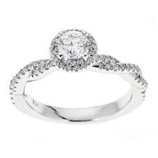 Anillos de joyería con diamantes naturales de oro blanco SI2