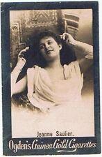Ogden's Guinea Gold Cigarettes MS42 Jeanne Saulier Tobacco Card Base M