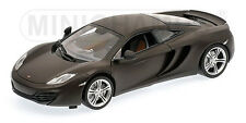MINICHAMPS 110 133021 McLAREN MP4-12C diecast road car 2011 Matt black 1:18th