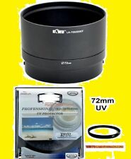 CAMERA/LENS ADAPTER+UV FILTER 72mm for FUJI S3380HD S3380 HD FinePix FUJIFILM