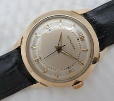 Mens Vintage WITTNAUER Manual Wind Wristwatch 10k Gold Filled & Stainless