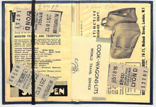 HL373 1950s GB FRANCE Travel Wallet *COOKS WAGONS-LITS* Train Tickets etc{5}