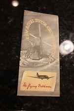 1939 ADVERTISEMENT BROCHURE  K L M ROYAL DUTCH AIRLINES HOLLAND FLYING DUTCHMAN