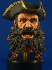 """1:6  PAINTED RESIN HEAD SCULPT  """"BLACKBEARD"""" PIRATE HEAD WITH REMOVABLE TRICORN"""