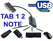 CAVO BIANCO OTG SAMSUNG GALAXY NOTE 10.1 N8000 8010 TAB 1 2 10.1 8.9 7.0 7.7