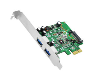 SIIG DP 2-Port USB 3.0 PCIe Adapter Card, Includes Bracket (JU-P20612-S1)