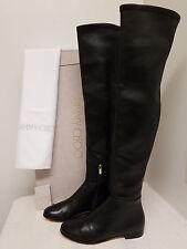 Jimmy Choo Myren Leather Over-the-Knee Boot, Black Original:$1550.00 Size - 38,5