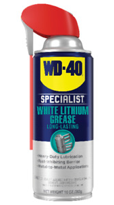 WD40 Specialist Protective White Lithium Grease Spray w/ Smart Straw 10oz