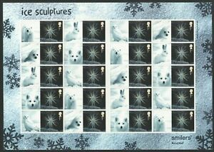 GB 2003 Smilers Sheet LS16 Christmas Ice Sculptures 1st class - Goldsworthy  MNH