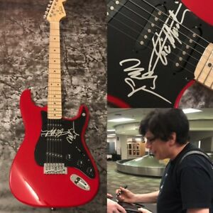 GFA Eric Martin & Billy MR. BIG Band Signed Electric Guitar PROOF LA1 COA