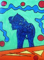 Unikat Mooseart Akt erotisches Gemälde Acryl auf Leinwand 30x40cm Original
