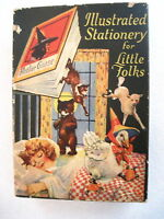 "Adorable Vintage Box ""Illustrated Stationery for Little Folks"" w/ Mother Goose *"