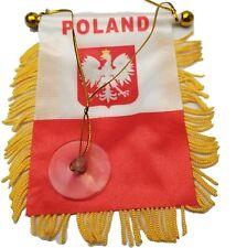 Poland Polish Polska Mini Banner Flag Car Home Window Rearview Country Gift love