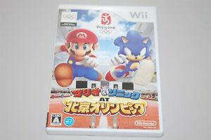 Mario & Sonic at the Olympic Japan Nintendo Wii game NTSC-J