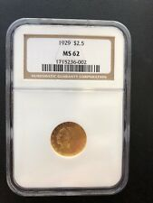 1929 INDIAN HEAD QUARTER EAGLE $2.5 GOLD NGC MS62