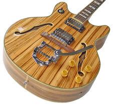 Vollresonanz Archtop Jazz Gitarre, Zebrano Holz, Bigsby