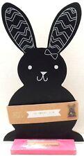 Chalkboard Easter Bunny Rabbit Shaped Seasonal Spring Holiday Home Decor NWT
