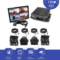 "720P 4CH  AHD DVR H.264  Video Recorder Box With 7"" Car Monitor Camera Truck"