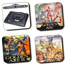 Golden Axe 1 2 3 - Mega Drive Gaming Console - Coasters - Set Of 4 - Wood - Gift