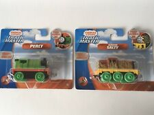 Thomas & Friends Trackmaster Push Along Metal Engines x2 (Percy & Salty Seaweed)