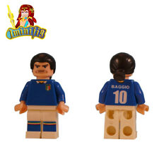 Custom LEGO minifig Roberto Baggio in 1994 World Cup Jersey
