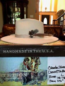 """CHARLIE 1 HORSE """"DESERT DRIFTER"""" BONE L 7 1/4 - 7 3/8 WESTERN LOOK!"""