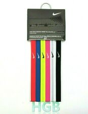 Nike Girls Swoosh Sport Headbands Hairbands 6 Pack Pink Black White Blue NWT
