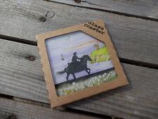 Poldark Glass Coaster by Sue Podbery Boxed Aidan Turner & Eleanor Tomlinson